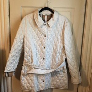 Burberry Tan Diamond Quilted Jacket